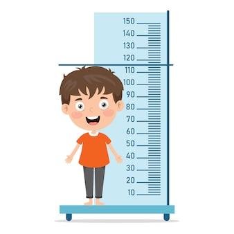 Измерение высоты для маленьких детей