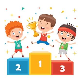 Победа в чемпионате маленьких детей
