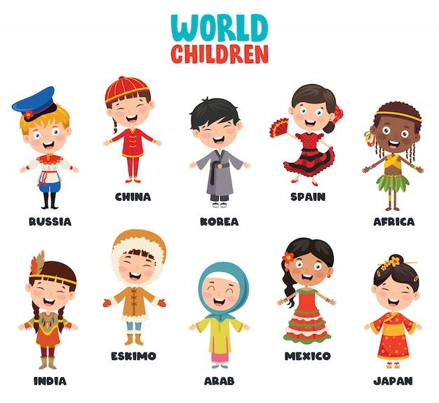 世界の多文化キャラクター