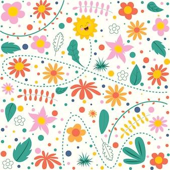 Красочный цветочный бесшовный узор