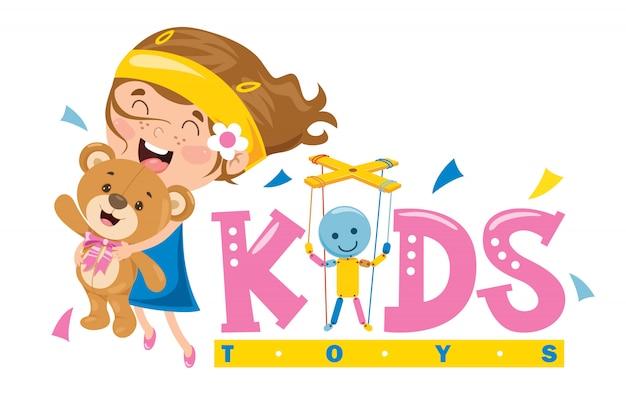 Дизайн логотипа для детских игрушек