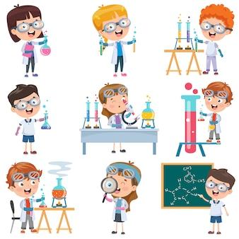 化学実験をしているほとんどの学生