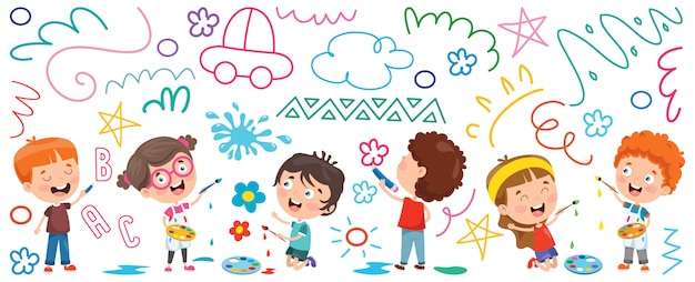 子供の絵のバナー