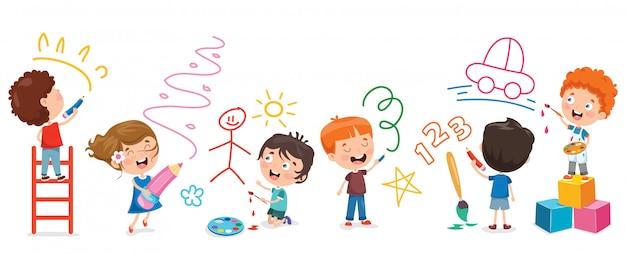 Дети рисуют баннер