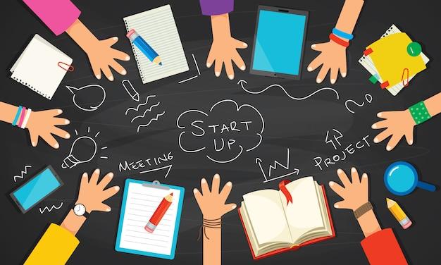 教育またはデジタルマーケティングのコンセプト