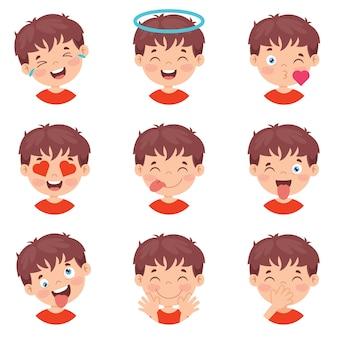 Набор различных выражений детей