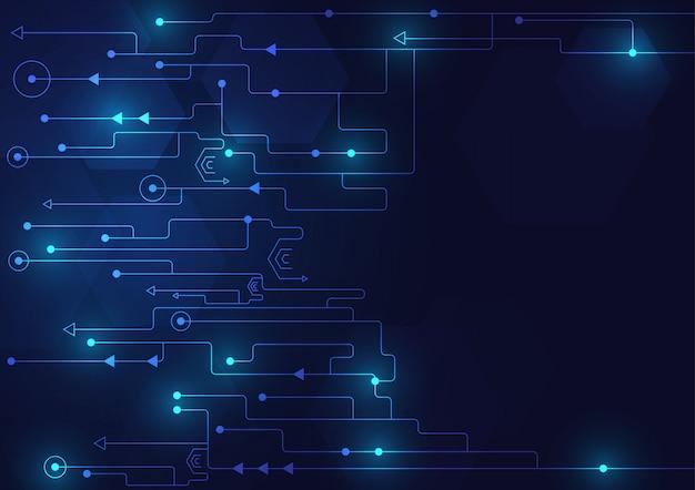 ハイテク技術の幾何学と接続システムの背景