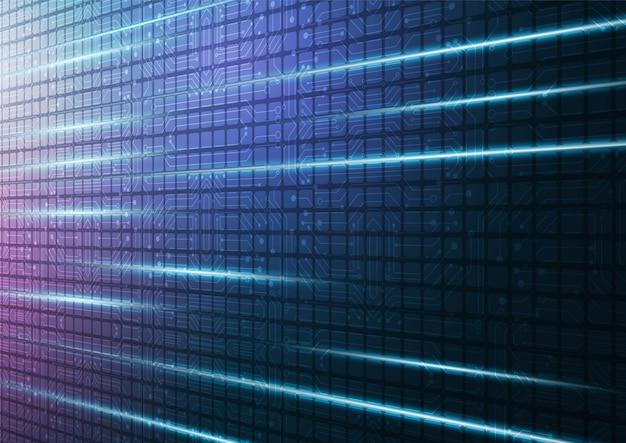 デジタルデータの要約とハイテク技術の幾何学的な接続システムの背景