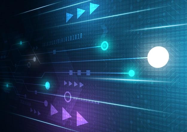 カラフルな背景のベクトルデザインとネオンの矢印の速度と技術データロードの概要
