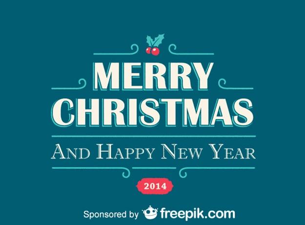 メリークリスマスと幸せな新年青い背景