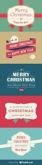 クリスマスと新年のカード