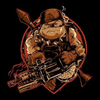 武器を持つブルドッグ