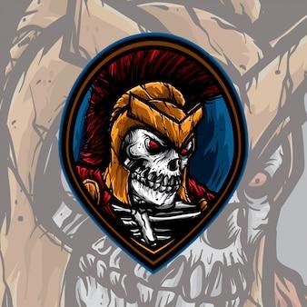 Спартанский череп логотип