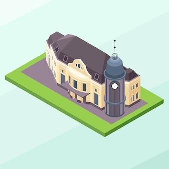 ヨーロッパの古代の古典的なオフィスビル