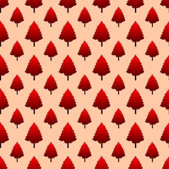 秋の木のシームレスなパターン