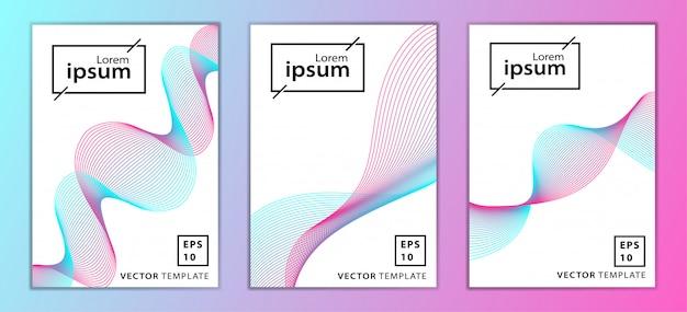 最小限のビジネスパンフレット表紙デザインのセット