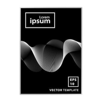 最小限のビジネスパンフレットの表紙デザイン