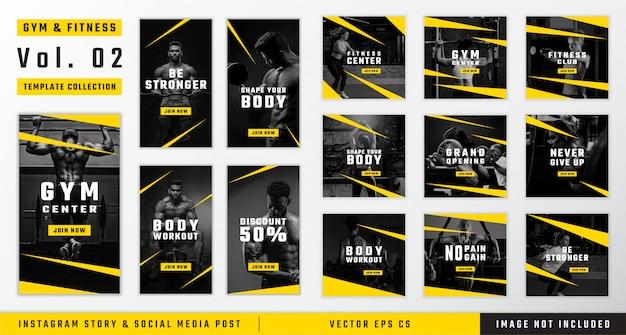 Рассказ о фитнес-зале и фитнес-инстаграм и публикация шаблонов в социальных сетях