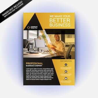 Желтый и серый креативный шаблон для делового бизнеса