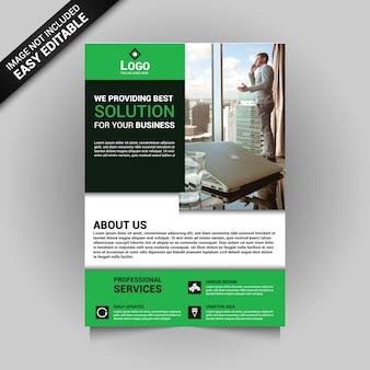 Зеленая концепция бизнес-листовки