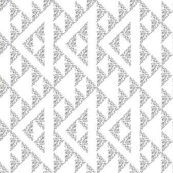 シームレスな金色と銀色の光沢のある三角形のパターンの背景