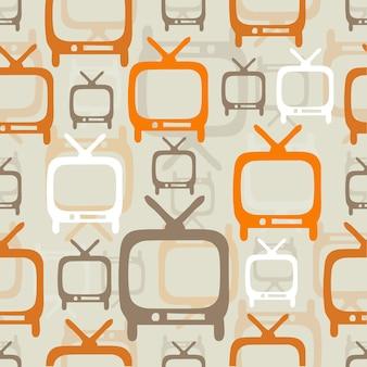 シームレスなクラシックテレビのパターンの背景