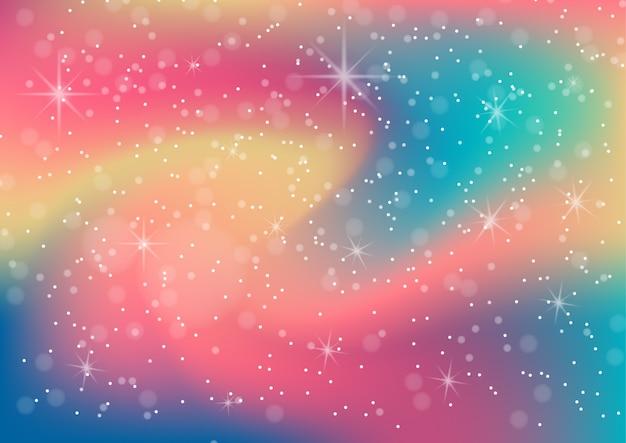 Фантастическая красочная галактика, космический фон