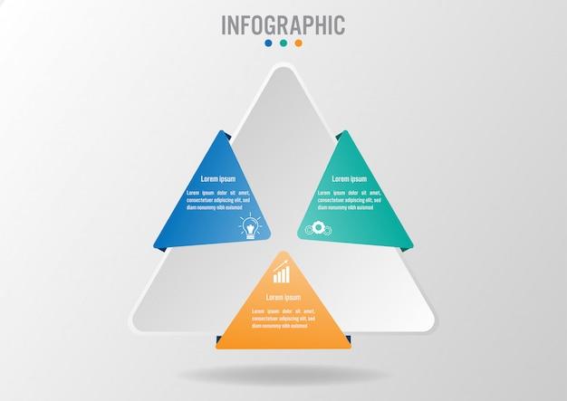 Бизнес-инфографический шаблон с