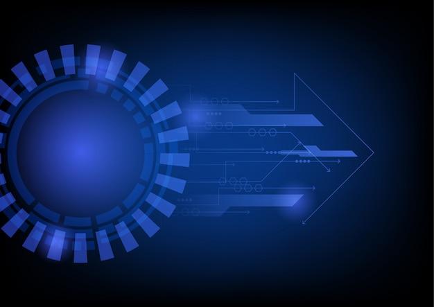 抽象的な未来的なサークル技術の背景
