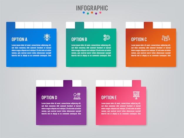 Бизнес инфографики этикетки шаблон с параметрами.