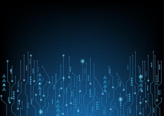 抽象的な青いコンピュータ技術