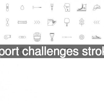 Спорт бросает вызов иконки инсульта