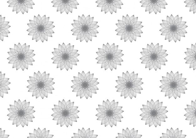 線形花びら花パターン背景のベクトル