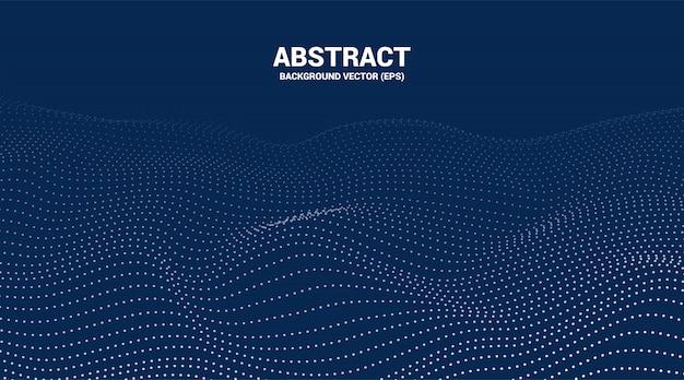 Цифровой контур кривой точки и линии пульсации и волны с каркасом. абстрактный фон для концепции футуристической технологии