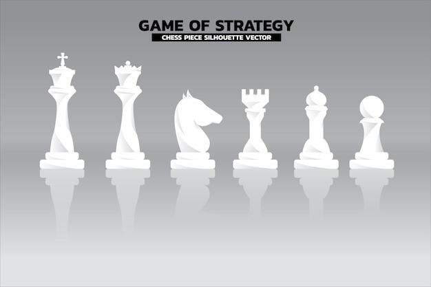 チェスピースシルエットベクトル