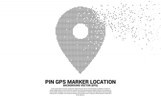 位置ピンマーカー標識のピクセルスタイル。