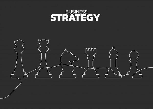 チェスの駒のシルエットラインベクトル