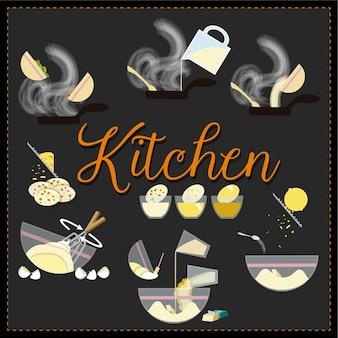 Значки кухонной кухни