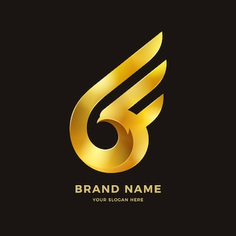Логотип крылья птицы