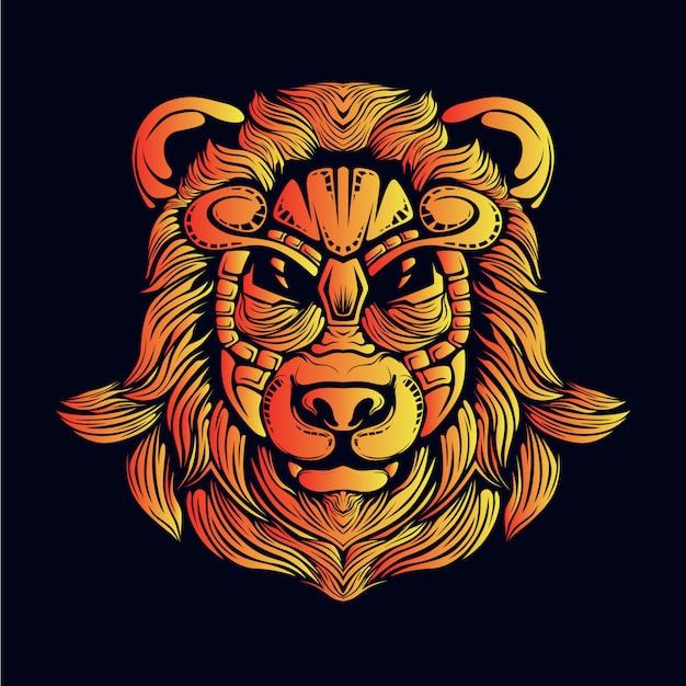 黄金のクマの頭の図
