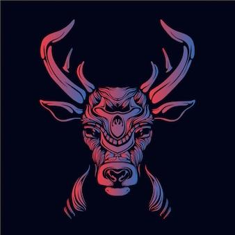 鹿の頭の図