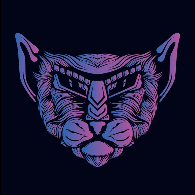 紫猫の頭の図