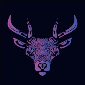 紫鹿の頭の図