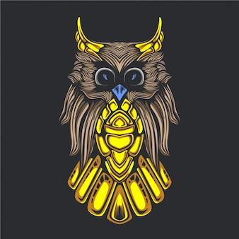 Иллюстрация иллюстрации совы
