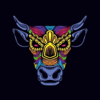 牛のアートワークの図