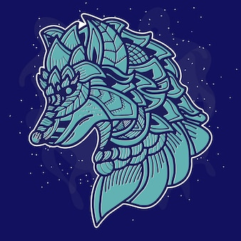 Иллюстрация искусства волка