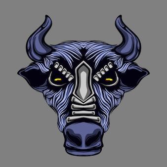 牛の頭のアートワーク
