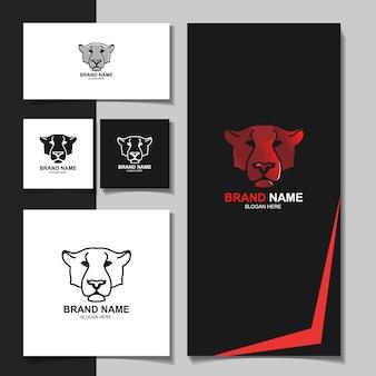 Шаблон логотипа животных тигр