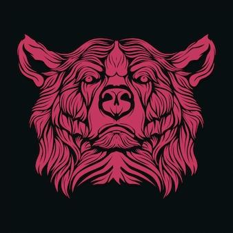 Лицо медведя