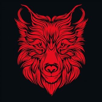 オオカミの頭